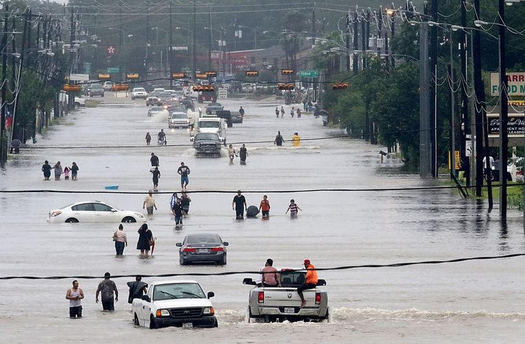 Orkaan Harvey was een van de oorzaken van de recordschade wereldwijd.