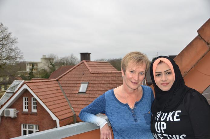 Conny Niehoff verhuurt kamer aan Rawaa Chasib, vluchteling uit Irak