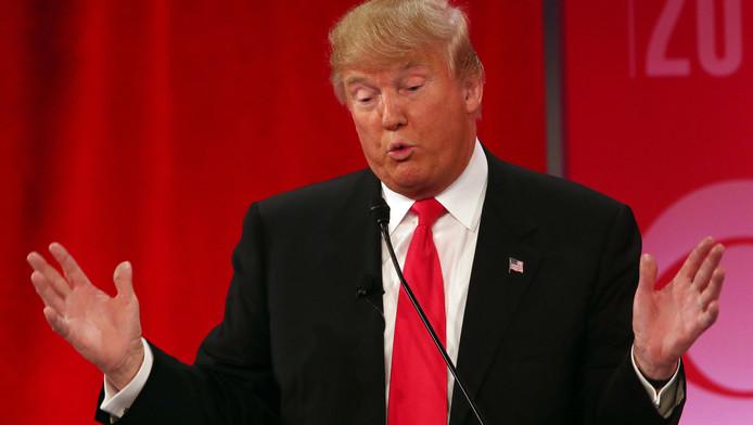 Donald Trump tijdens het debat.