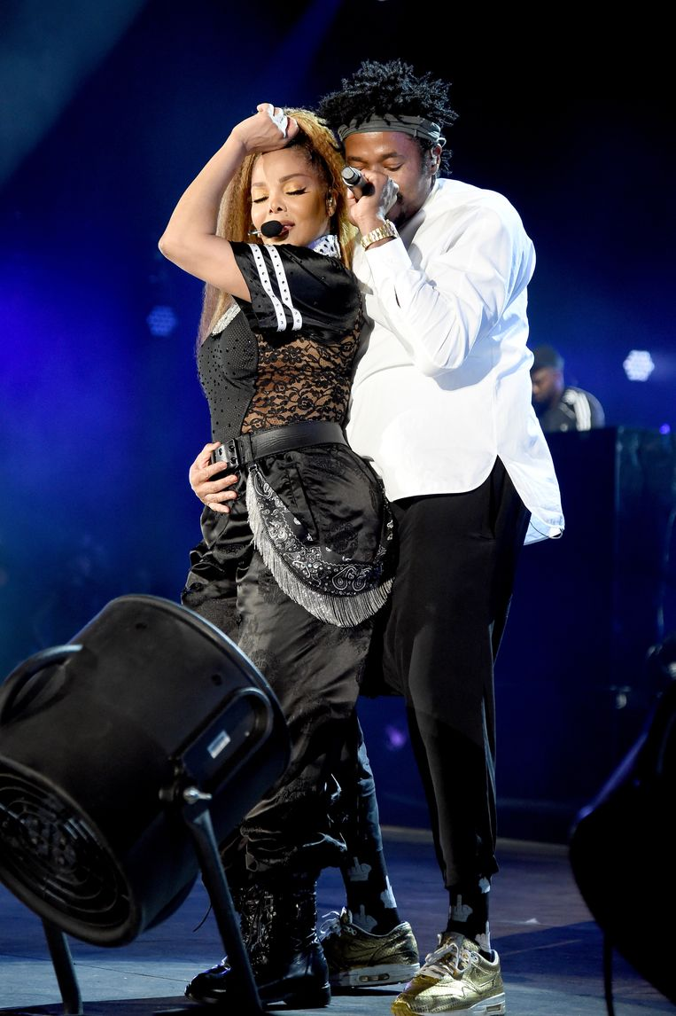 Janet Jackson (links) en Q-Tip, 2018. Beeld Kevin Mazur / Getty