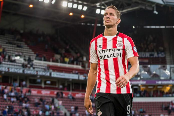 Luuk de Jong kwam niet tot scoren bij PSV.