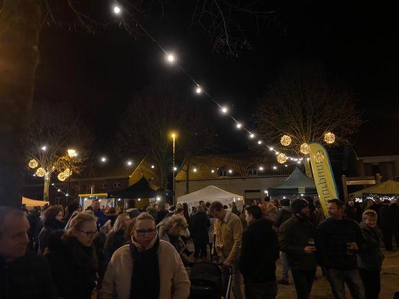 De eerste kerstmarkt in Wortel was een schot in de roos.