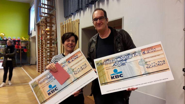 Twee goede doelen kregen elk 2.100 euro.