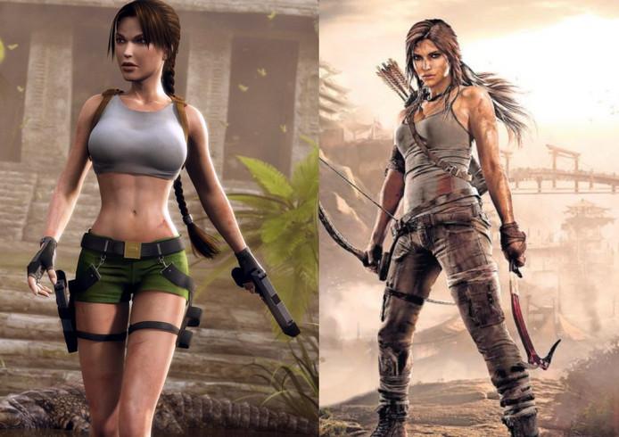 Lara Croft toen en nu