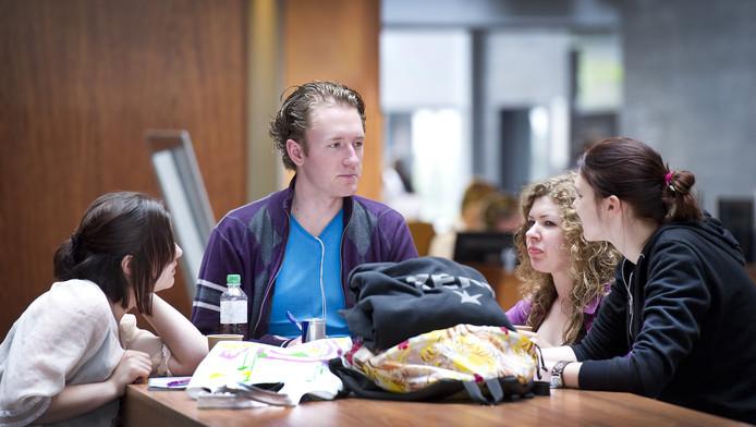 Studenten van hogeschool Inholland Haarlem. Archieffoto
