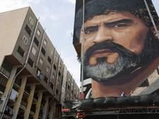 Foto's: reusachtig portret Maradona bijna klaar