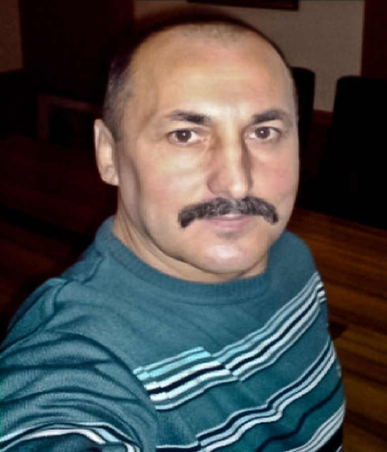 Bendeleider Alexandr Agheenco. Beeld ap