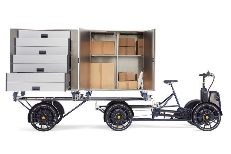 De Gazelle D10, een elektrische transportfiets van 'auto-importeur' Pon. Beeld Pon