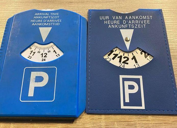A gauche, l'ancien disque non conforme. A droite: le modèle européen standardisé.