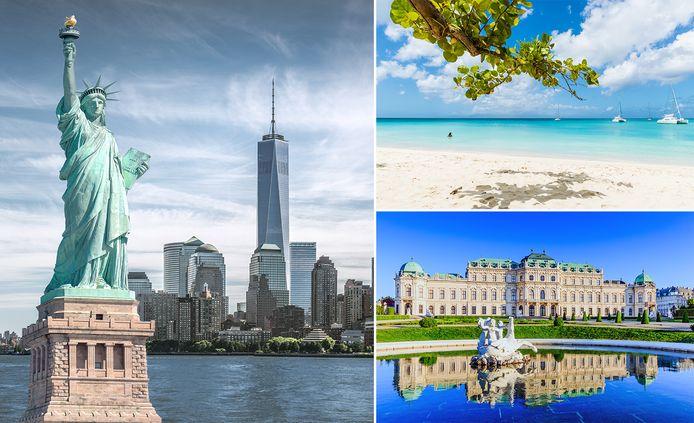 New York, Guadeloupe en Wenen zijn goedkope vliegbestemmingen in 2020.