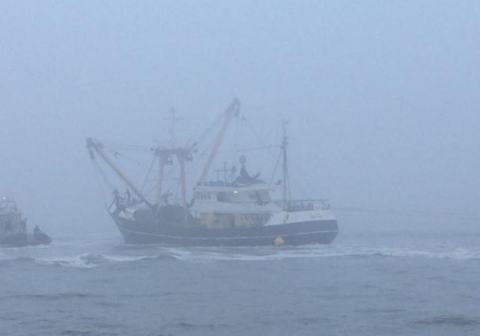 Een kotter verkeert in grote nood op de Noordzee. Foto ter illustratie.