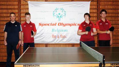 """Geen Special Olympics voor Julie, Robin, Quinten en Bram van Tafeltennisclub Zele: """"Ontgoocheling is groot"""""""