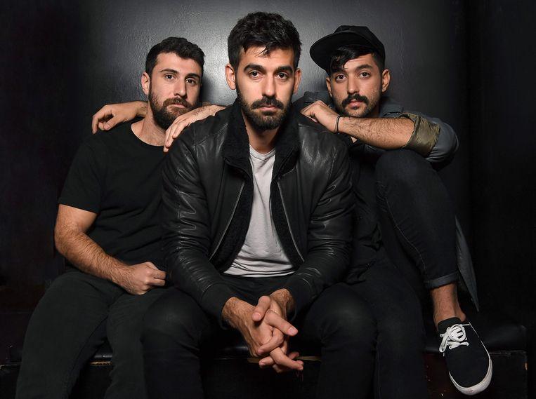 De bandleden van Mashrou' Leila: Haig Papazian, Carl Gerges en Hamed Sinno.