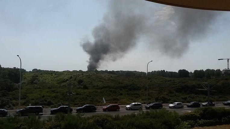 De rookpluim was kilometers ver te zien.
