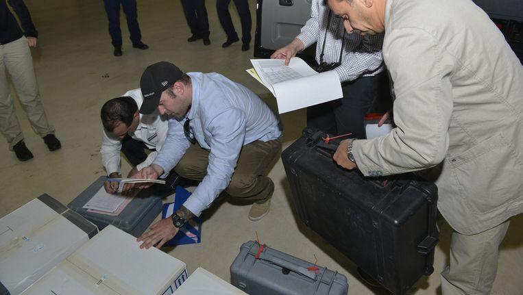 Informatie uit Syrië arriveert in Den Haag. Beeld ap
