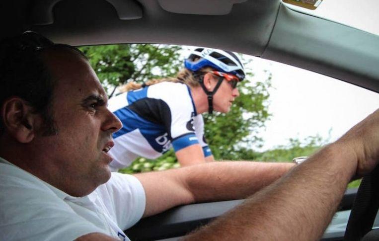 Teammanager Thomas Campana.  Beeld