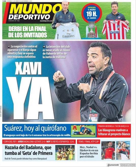 De cover van de Spaanse krant Mundo Deportivo.