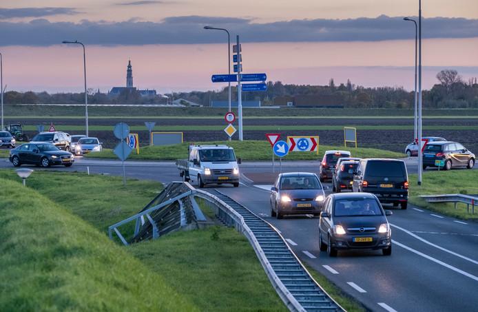 Rotonde N57 bij Serooskerke