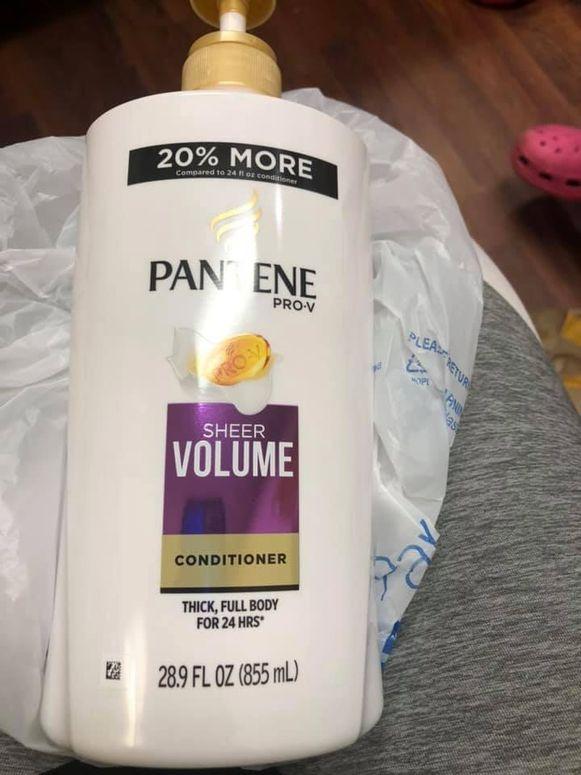 Het bewuste flesje van Pantene.