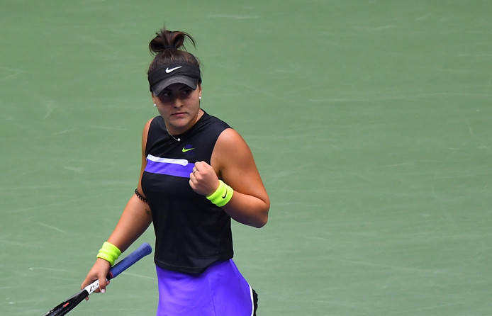 Bianca Andreescu stond voor de eerste keer in een Grand Slam-finale.