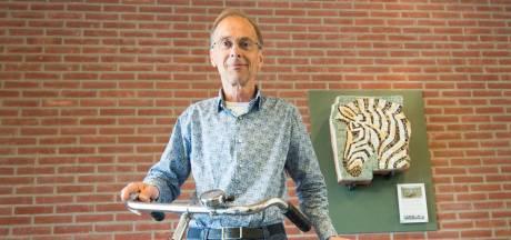 Arie de Viet heeft het zebrahoofd thuisgebracht in Tholen