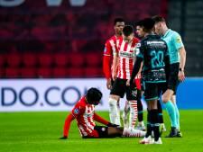 PSV moet Noni Madueke de komende weken missen en hoopt dat de schade meevalt