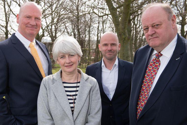 Peter Van Den Haute, Christine Vallat, Louis Ide en Jan Soenen.