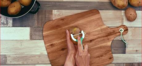 Aardappels schillen met een mesje? Dat kan heel anders