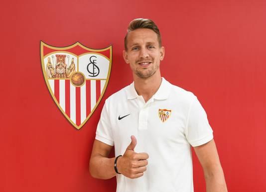 Luuk de Jong speelt sinds dit seizoen voor Sevilla.