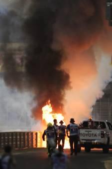 Stupeur en F1: le bolide de Grosjean en feu et coupé en deux, le pilote miraculeusement indemne