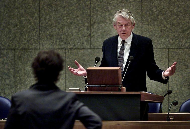 Premier Kok in de Tweede Kamer, 2000. Beeld ANP