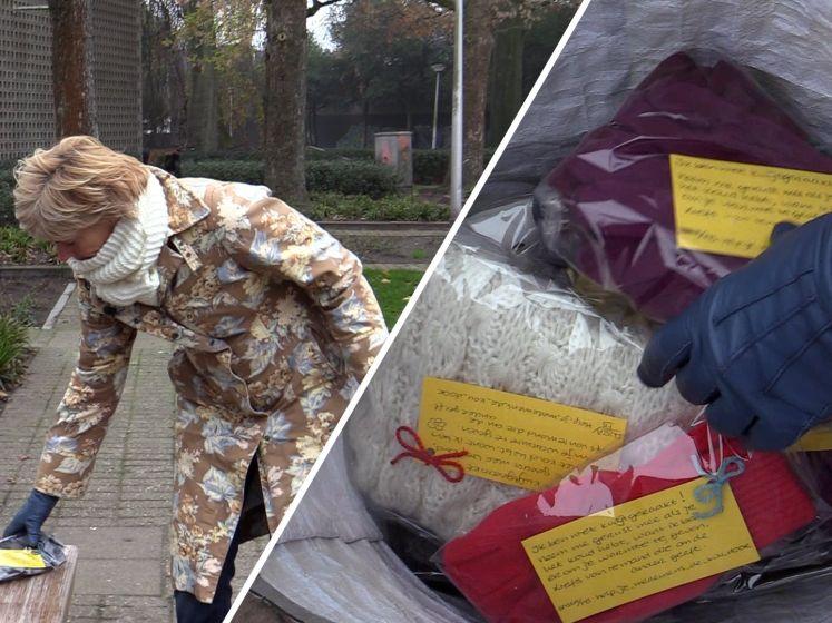 Odette verspreidt honderden sjaals voor daklozen: 'Om warmte te verspreiden'
