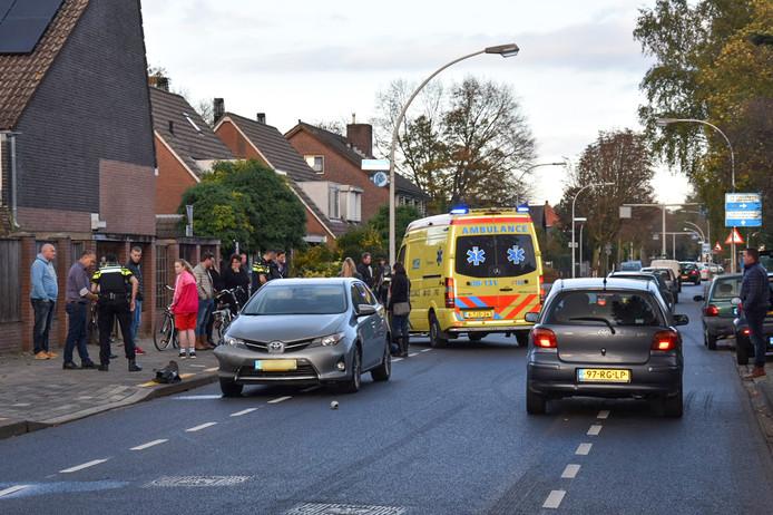Op de St. Agnetenweg in Nijmegen is een fietsster gewond geraakt.