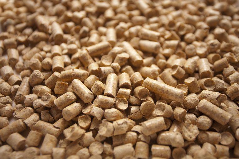 Zolang restmateriaal de bron is van dit samengeperste hout, is het voldoende duurzaam als brandstof.  Beeld Shutterstock
