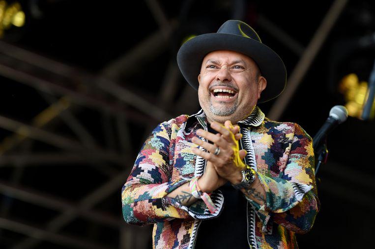 Louie Vega and the Elements Of Life op het Love Supreme Festival in Engeland.  Beeld Tabatha Fireman / Redferns