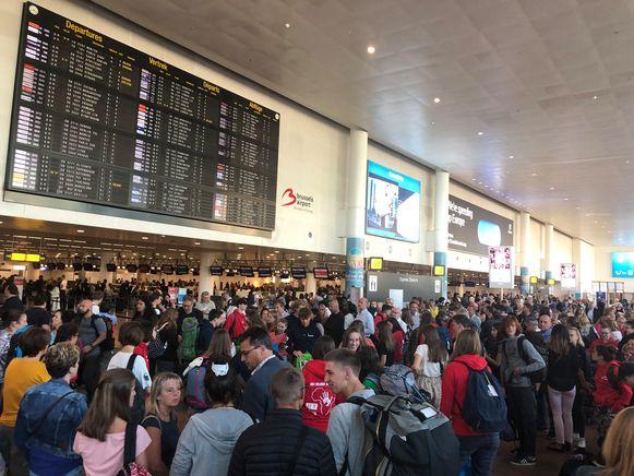 Staking op de luchthaven van Zaventem afgelopen zomer.