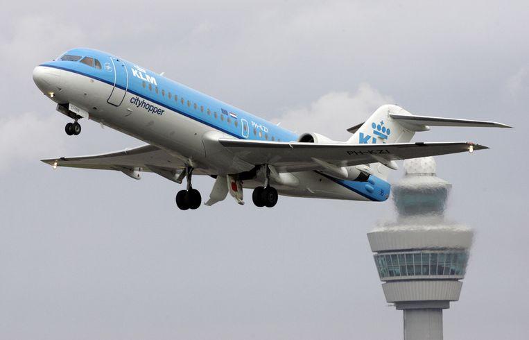 De luchtverkeerstoren op Schiphol Beeld ANP
