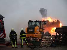 Twee geiten omgekomen bij grote stalbrand in Dongen