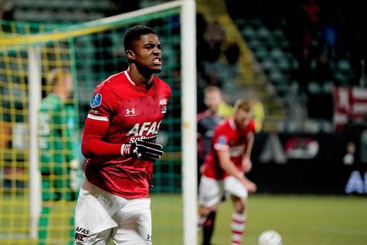 Ook Myron Boadu pikte weer zijn doelpuntje mee.