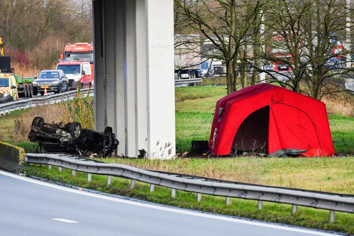 Het ongeval werd pas bij daglicht opgemerkt.