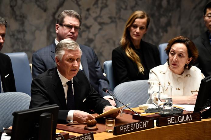 Le roi Philippe au Conseil de sécurité de l'ONU, ce 12 février.
