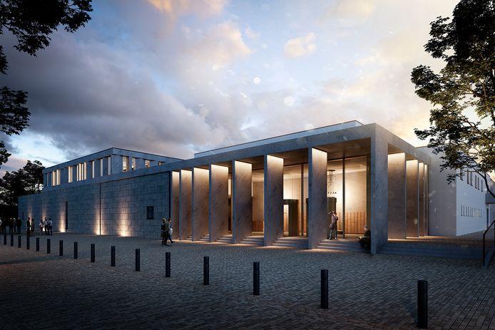 De schouwburg in Lommel zoals die eruit gaat zien. Bovenop komt een extra verdieping voor een expositieruimte.