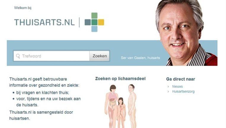 Screenshot van de website thuisarts.nl Beeld