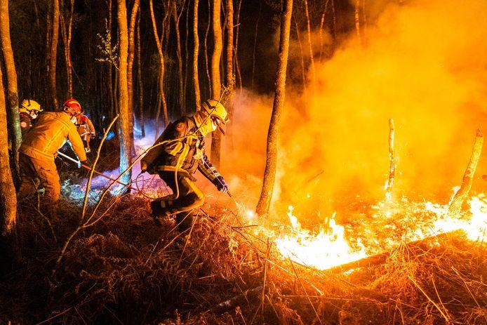 Brand in de Deurnsche Peel.