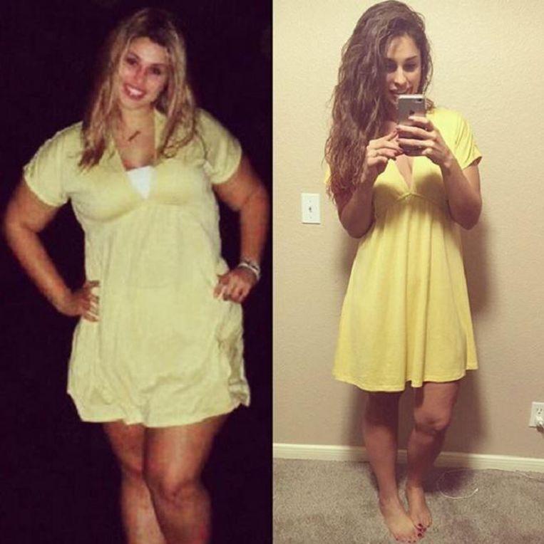 Savannah Ortiz voor en na haar transformatie