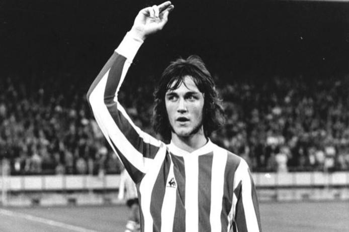 Ralf Edström in 1973 in het PSV-tenue van Le Coq Sportif.