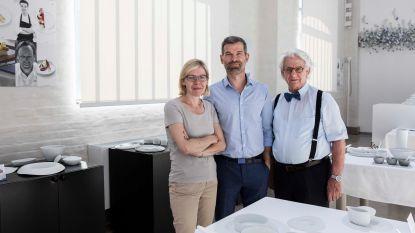 In Mirazur, het beste restaurant van de wereld, eten gasten op Genker borden