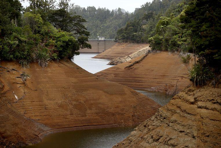 Door droogte in Nieuw-Zeeland worden er landelijk maatregelen genomen om water te besparen.  Beeld Getty Images