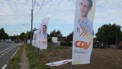 Jongeren vernielen CD&V-vlaggen