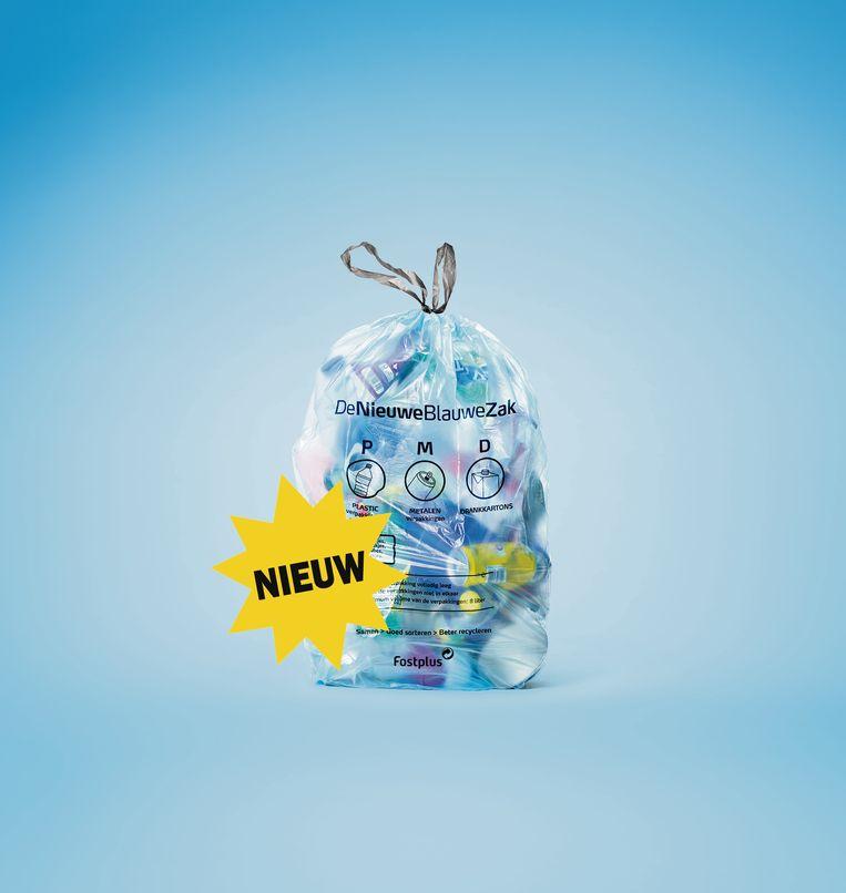De nieuwe blauwe PMD-zak doet zijn intrede in Ronse vanaf 1 januari 2020.